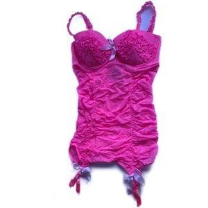Victoria's Secret Pink Chemise Garter Slip 36D NWT